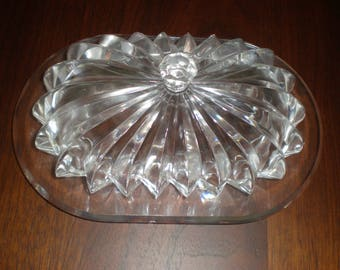 Butter Dish Lucite Acrylic Vintage