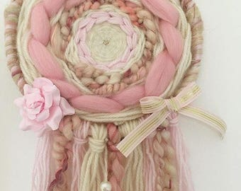 Textures made to order Woven Dream catcher / Nursery Decor / Wall Hanging