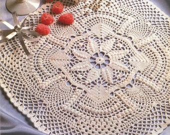 256. Vintage crochet  doily UK pattern in pdf
