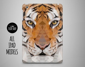 Tiger Geometric Art iPad Air Case iPad Mini 4 Case iPad Mini 3 Cover iPad Air 2 Case iPad 4 Case iPad Mini 2 Case iPad Mini Case iPad Case