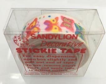 Vintage Rare Sandylion Butterfly Stickie Tape