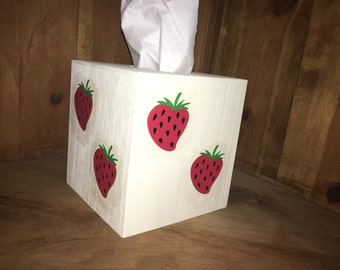 This wood tissue box cover is the perfect gift for that one person who has everything.