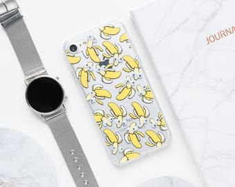 Banana iPhone Case - iPhone 7 Case, iPhone 6, Clear iPhone Case, Banana iPhone Case, Cute iPhone Case, Funny iPhone Case, Silly iPhoneCase