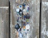 Beaded Sea Shell Chime, Beach Chime, Shell Chime, Sea Shell Mobile