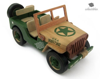Jeep Willys wood replica collectible - MP Ford GPW 1942