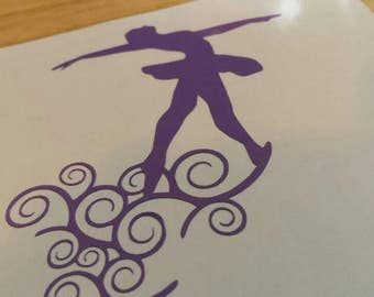 DANCING DANCE BALLET Dancer Vinyl Decal  Free Shipping Yeti Window Car Laptop Wine Glass Coffee Beer Mug Frame Sports Bottle Sticker Tumbler