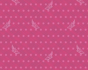 Seventy-Six by Alison Glass Woven in Eggplant A-8447-R cotton fabric andover modern material quilting supplies purple dots birds