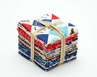 Riley Blake Cowboy Fat Quarter Bundle by Samantha Walker (21 pieces) western old west cow boy hat boots saddle cotton precut quilting fabric