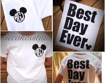 Disney Best day Ever shirt mickey minnie mouse Disney Girl Baby Toddler Ladies disney world monogram disney vacation shirt