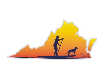 Virginia Paddle Board Decal
