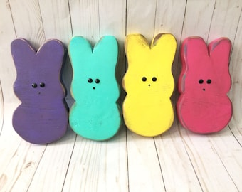 FREE SAME DAY shipping~Rustic Peep Easter Bunnies. Lots of inventory in stock & ready to ship same day purchased.