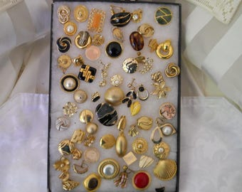 Vintage Jewelry Lot Single Earrings For Crafts #214