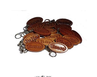 NAME Keyring Personalised Solid Wood Handmade ANY Name