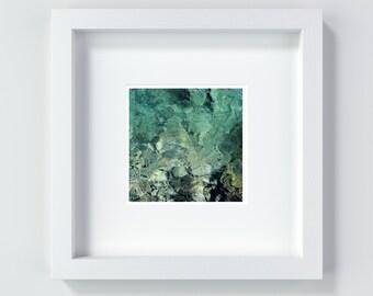 Water green, 13 x 13 cm + 20 x 20 cm