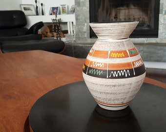 Mid Century Modern Carstens Vase - West German Vase - 638 20 - Ceramic - Eames Era