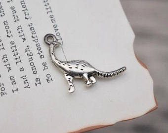 20 antique silver dinosaur charms dino charm pendant pendants  (X03)