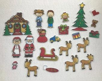 Christmas Felt Story Set - Flannel Board Story - Speech Therapy - Children's Gift- Stocking Stuffer