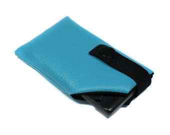 case map car in turquoise and black leather unisex men women