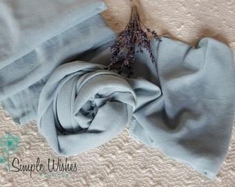 RTS Knit Dusty Blue Newborn Stretch Wrap Uk Seller