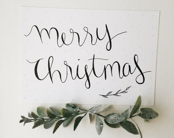 Merry Christmas | ORIGINAL | Hand-lettered Calligraphy | Holiday | 2017 | December | Holiday