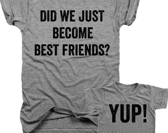 Bundle T-shirt set (set of 2), Did we just become Best Friends,Yup,Will Ferrell,John C reilly, step brothers,movie quotes,brothersB006