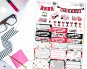 Shabby Rose Sampler - Planner Stickers, Bujo Stickers, Sampler stickers, Sampler set, Sticker Sampler, floral stickefs, watercolor stickers