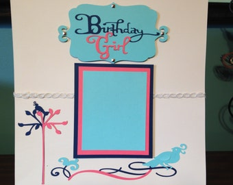 Birthday Girl 12 X 12 Premade Scrapbook Page