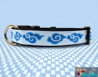"Blue Nimbus 1"" Wide Dog Collar"