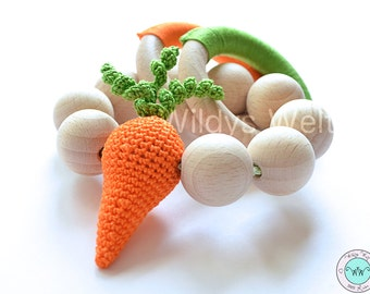 "Toy made of natural wood ""Carrot"""