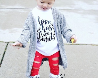Kids Love Shirt - Love Has No Limits - Graphic Tee for kids - Inspirational Shirt for Kids - Toddler Love Shirt - Quote Shirt for Baby
