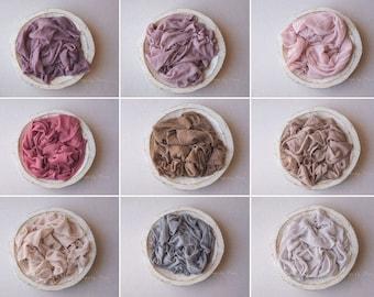 Newborn Wrap Layer  -  Soft, Organic, Frayed Cotton