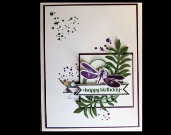 Dragonfly Garden Birthday Card