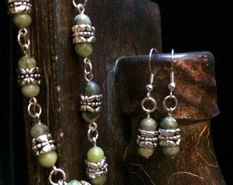 Summer Garden Bracelet and Earrings Set
