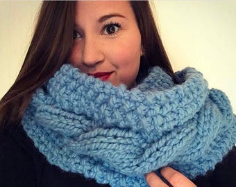 Cable Knit Infinity Scarf in Denim~ONLY 1!