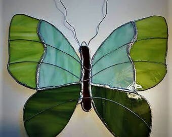 Butterfly Stained Glass Suncatcher, Butterfly Suncatcher, Glass Art
