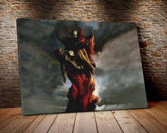 Spawn cm 50 x 70 print on canvas already framed and ready to hang model5