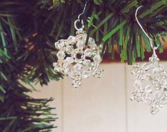 Crystal Snowflake Earrings 1