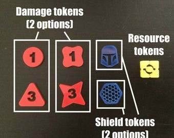 Acrylic tokens for Star Wars: Destiny and other games