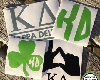 SUMMER SALE | Kappa Delta Decals | Sorority Stickers | Sorority Decals | Official Licensed Product