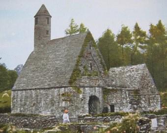 Irish Postcard St Kevin's Kitchen and Round Tower, Glendalough Wicklow (unposted) / Valentine's postcard