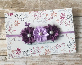 Purple Baby Headband, Purple Headband, Plum Headband, Baby Headband, Infant Headband, Newborn Headband, Baby Girl Headband, Headband, Baby