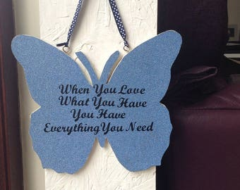 butterfly quote plaque