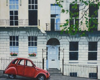 Red Citroën, Bath - Fine Art Giclée Print Limited Edition (50) Signed