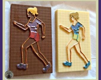 Female Runner Chocolate Gift/Jogger/Marathon/Track Athlete Girl/Womens Running Gift/Jogging/Woman Sport/Edible gift/Wife/Girlfriend/Sister