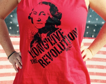 LONG LIVE the REVOLUTION red unisex tank