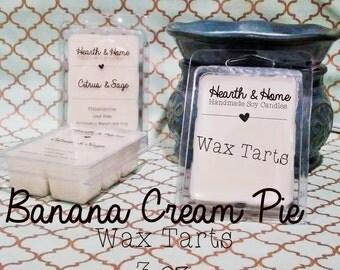Banana Cream Pie Wax Melt 3 oz. | banana melts | dessert melts | wax melts | candle warmer | scented melts | soy wax melts
