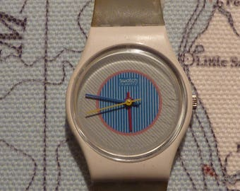 "1985 Swatch Watch ""Scratch and Sniff"" ~ Small Head"