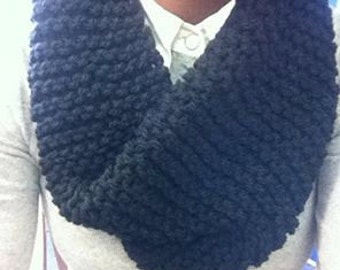 Hand knitted chunky luxury snood  navy Blue his /her  gift