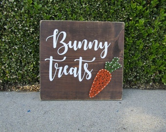 Bunny Treats Carrot String Art *Made-to-Order*