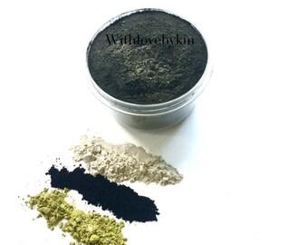 DETOX FACE MASK | Charcoal Face Mask | Bentonite Clay Mask | Clay Mask | Activated Charcoal Mask | Charcoal and Matcha Mask | Matcha Mask